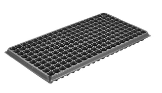 Factory Price 200 Cells seedling tray Black Plastic nursery Tray for Greenhouse Vegetables Nursery