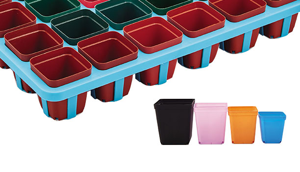 Plastic Succulent Square Plant Pots Supplier Offer Different Size Succulent Plant Tray
